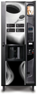 Cafe Express hot Beverage Merchandiser. Coffee and hot beverage vending with Vending Systems, Inc.