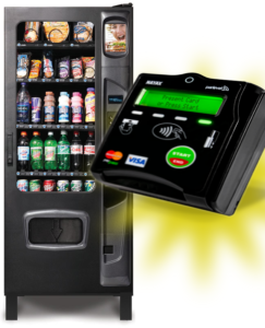 We service cashless pay systems and vending machines